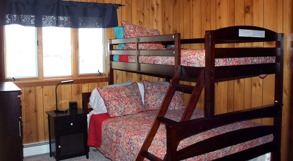 One of five bedrooms - Shadow Lake Retreat sleeps 19-20 guests comfortably