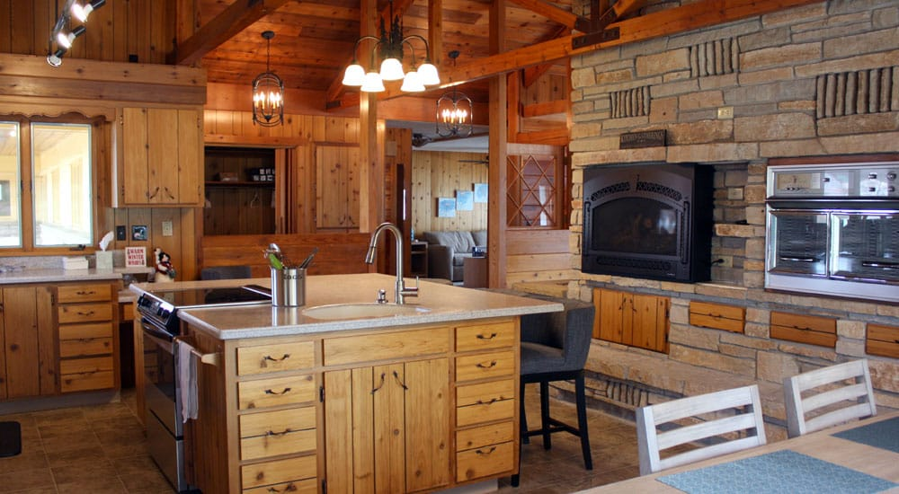 Plenty of room for prep or socializing around the large kitchen island