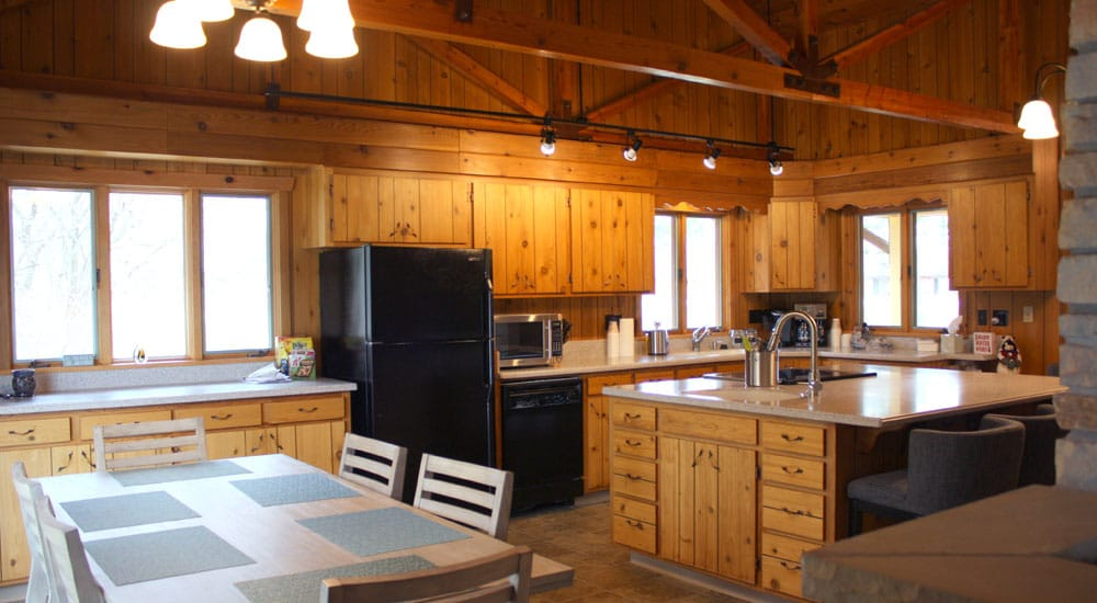 Shadow Lake Retreat's eat-in kitchen helps keep the focus on family